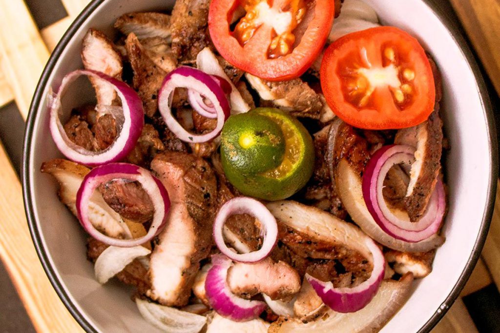 A favorite pulutan in Ilocos Norte, Insarabasab (or Sarabasab) directly means meat that is 'roasted on an open fire'.