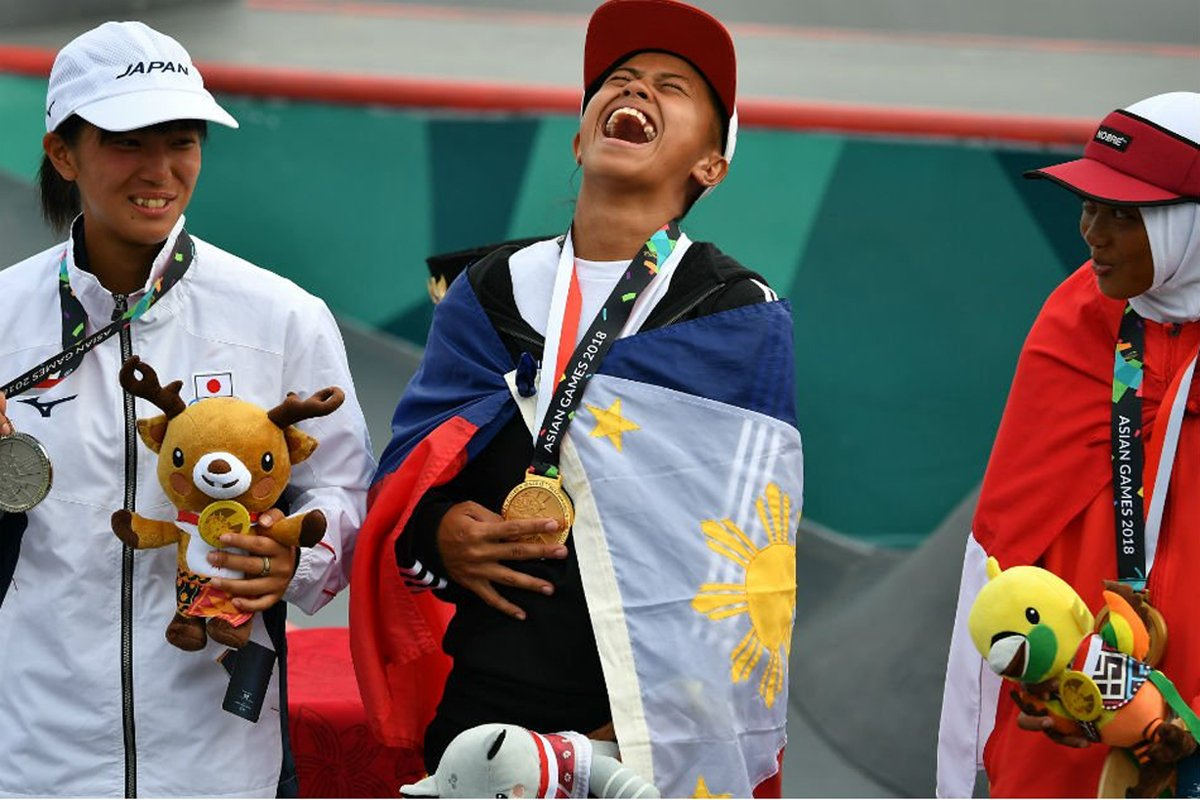Photo of Margielyn Didal wins gold in Asian Games street skate competition