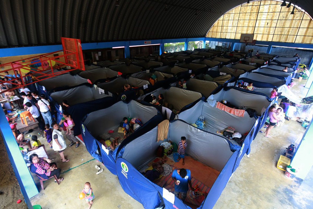 Netizens praise Marikina LGU over modular tents for evacuees