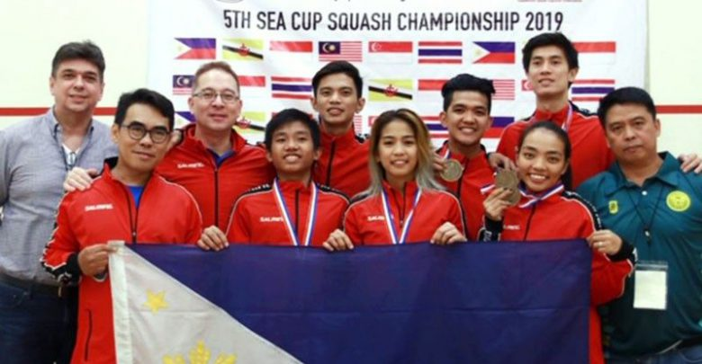 PH National Squash Team Gets Gold