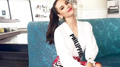 Photo of Catriona Gray wears IP-made clothing designed by Mindanawon