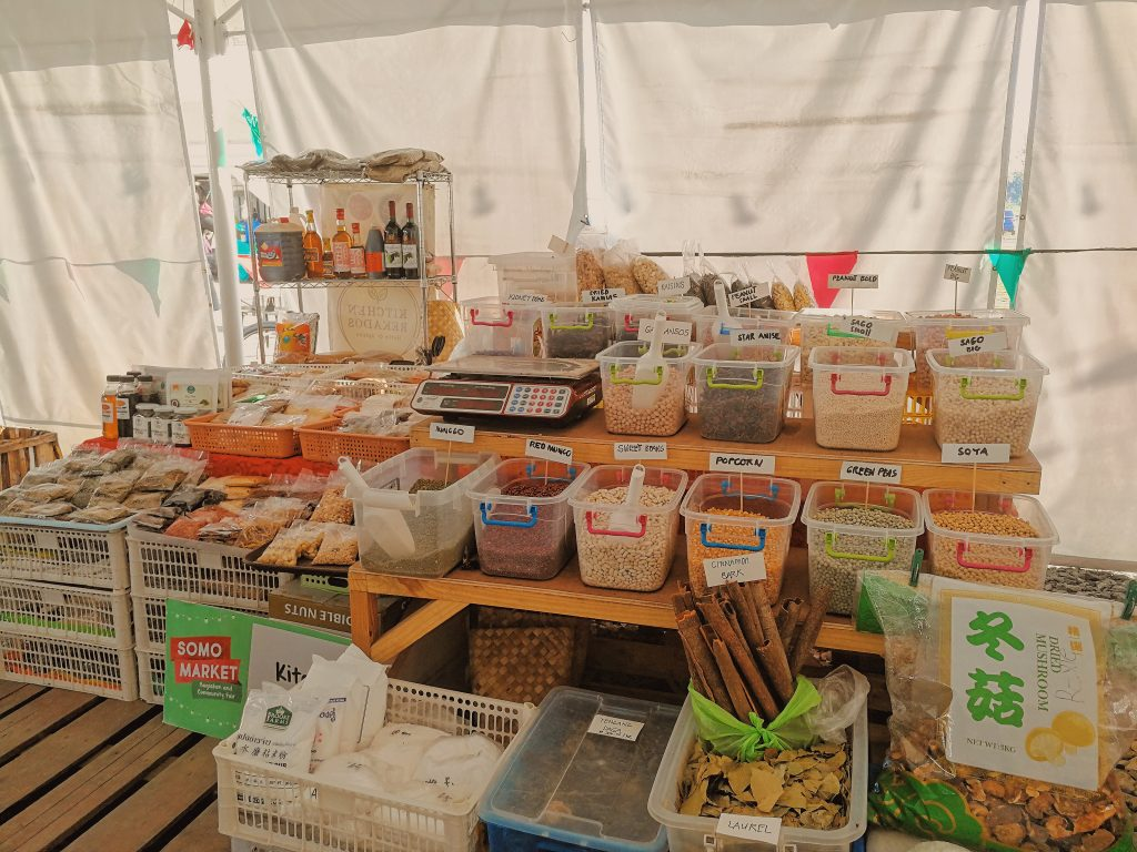 Kitchen Recados is a stall selling raw local ingredients, dried herbs, and spices.